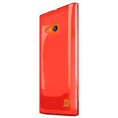 Lumia 735 Case, [Red] Slim & Flexible Crystal Silicone TPU Skin Cover for Nokia Lumia 735