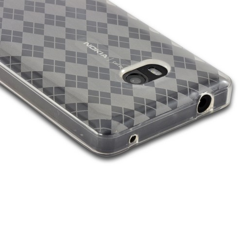 Argyle Clear Crystal Silicone Case for Nokia Lumia 810