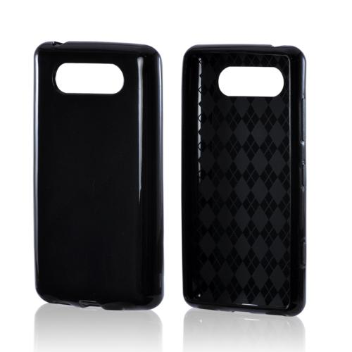 Black (Argyle Interior) Crystal Silicone Case for Nokia Lumia 820