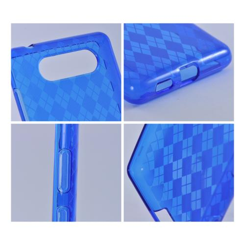 Blue Argyle Crystal Silicone Case for Nokia Lumia 820