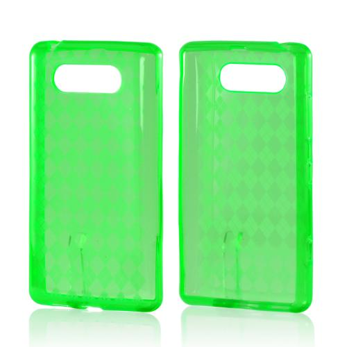 Argyle Green Crystal Silicone Case for Nokia Lumia 820