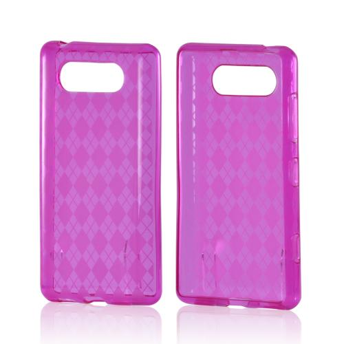 Pink Argyle Crystal Silicone Case for Nokia Lumia 820