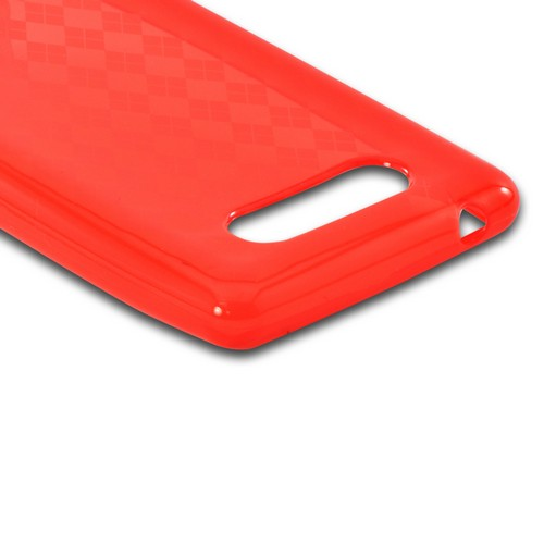 Red Argyle Crystal Silicone Case for Nokia Lumia 820