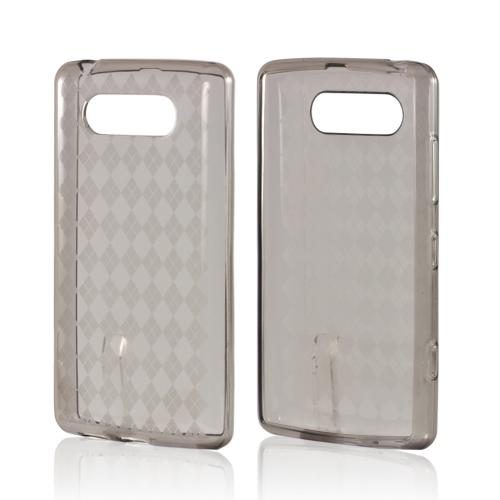 Smoke Argyle Crystal Silicone Case for Nokia Lumia 820