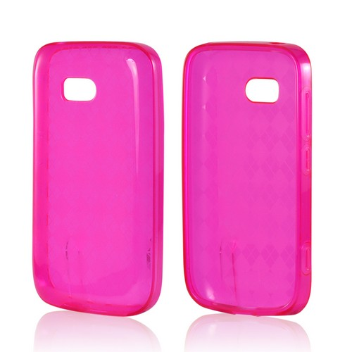 Argyle Hot Pink Crystal Silicone Case for Nokia Lumia 822
