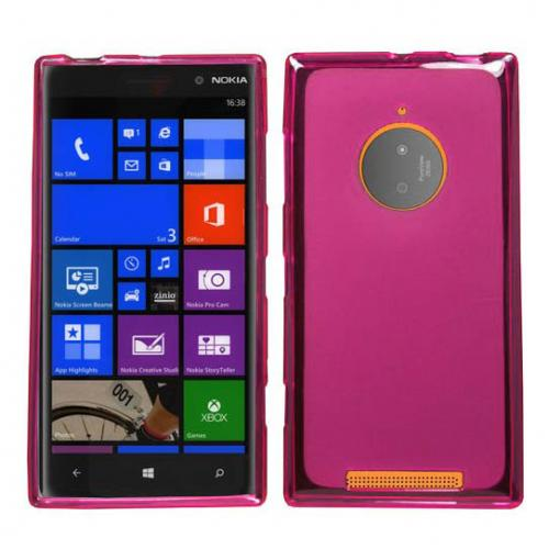 Nokia Lumia 830 Tpu Case [pink / Frost] Protective Bumper Case W/ Flexible Crystal Silicone Tpu Impact Resistant Material