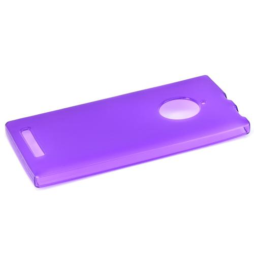 Nokia Lumia 830 Tpu Case [purple / Clear] Protective Bumper Case W/ Flexible Crystal Silicone Tpu Impact Resistant Material