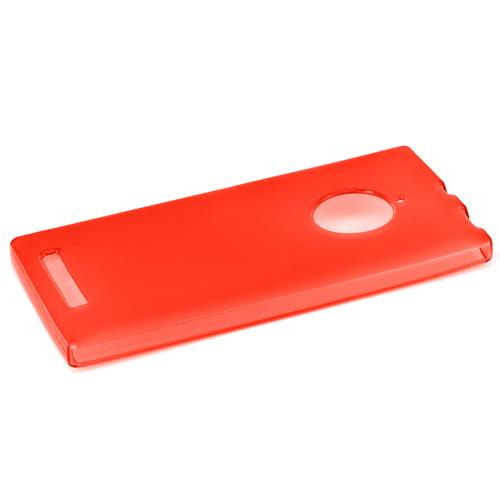 Nokia Lumia 830 Tpu Case [red / Clear] Protective Bumper Case W/ Flexible Crystal Silicone Tpu Impact Resistant Material