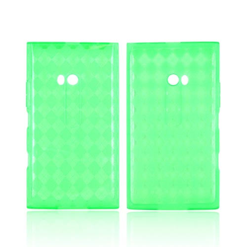 Nokia Lumia 900 Crystal Silicone Case - Argyle Green