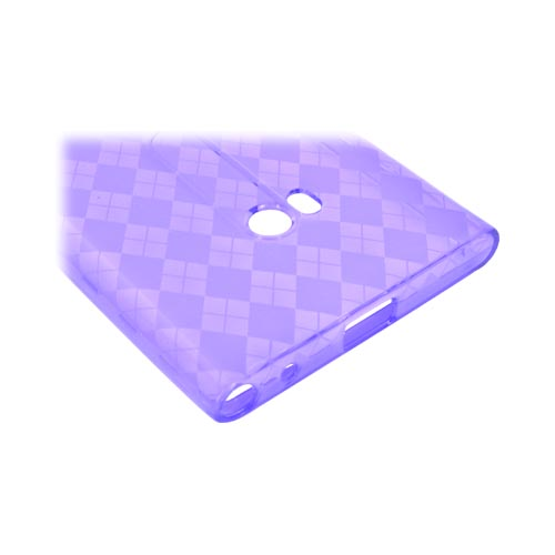 Nokia Lumia 900 Crystal Silicone Case - Argyle Purple