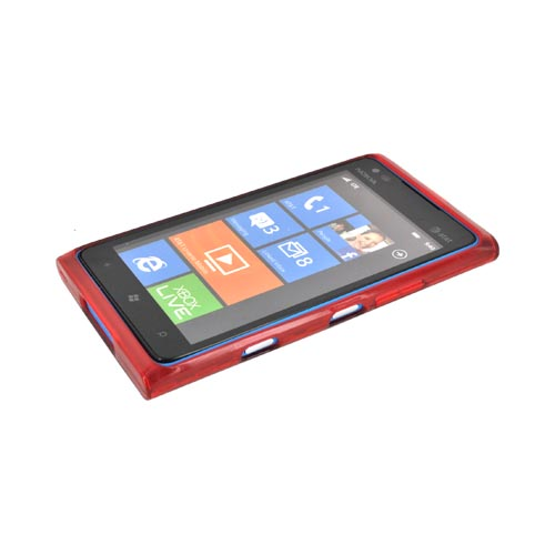 Nokia Lumia 900 Crystal Silicone Case - Argyle Red