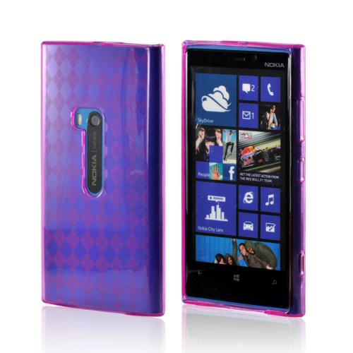 Argyle Hot Pink Crystal Silicone Case for Nokia Lumia 920