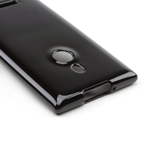 Black Crystal Silicone Skin Case for Nokia Lumia 925