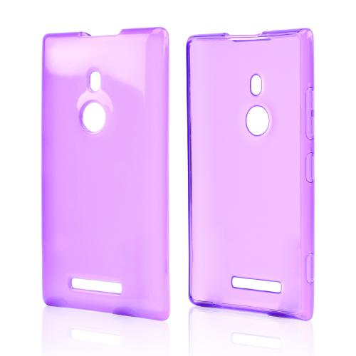 Purple/ Frost Crystal Silicone Skin Case for Nokia Lumia 925