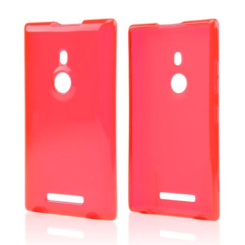 Red/ Frost Crystal Silicone Skin Case for Nokia Lumia 925