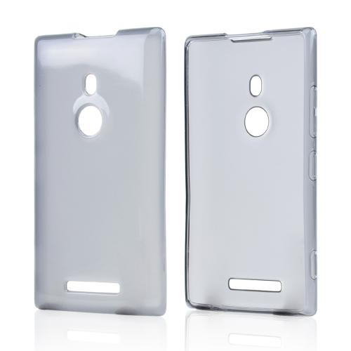 Smoke/ Frost Crystal Silicone Skin Case for Nokia Lumia 925