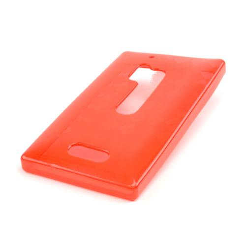 Argyle Red Crystal Silicone Skin Case for Nokia Lumia 928