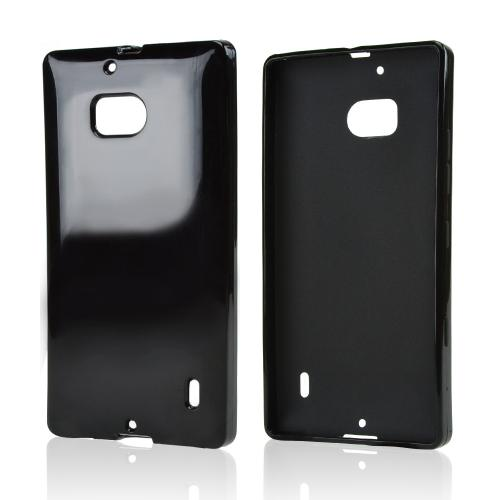 Black Crystal Silicone Skin Case for Nokia Lumia Icon
