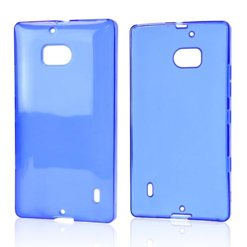 Blue/ Frost Crystal Silicone Skin Case for Nokia Lumia Icon