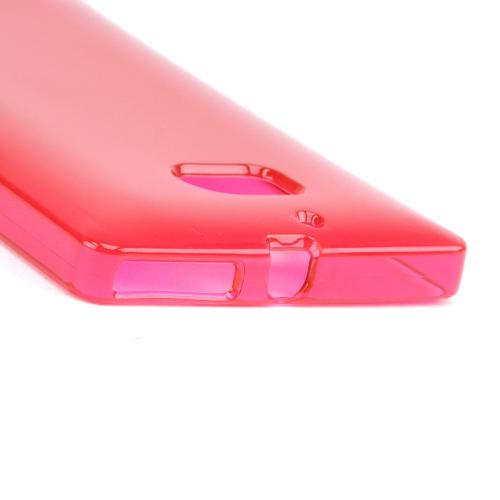 Hot Pink/ Frost Crystal Silicone Skin Case for Nokia Lumia Icon