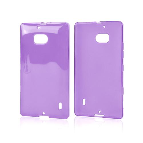 Purple/ Frost Crystal Silicone Skin Case for Nokia Lumia Icon
