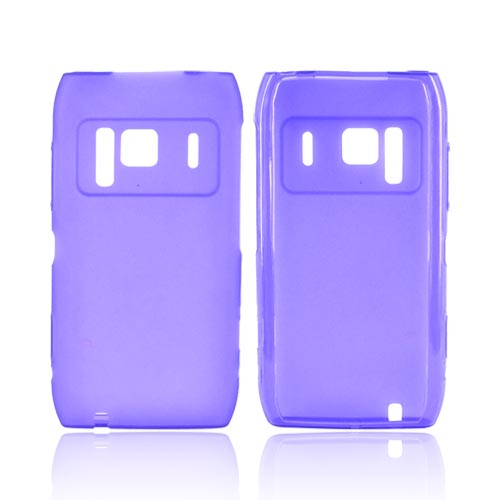 Nokia N8 Crystal Silicone Case - Purple