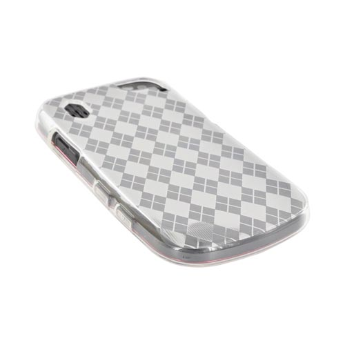 Pantech Hotshot Crystal silicone Case - Argyle Clear