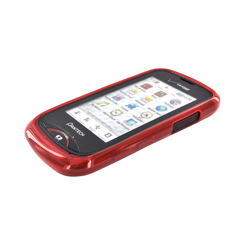 Pantech Hotshot Crystal Silicone Case - Argyle Red