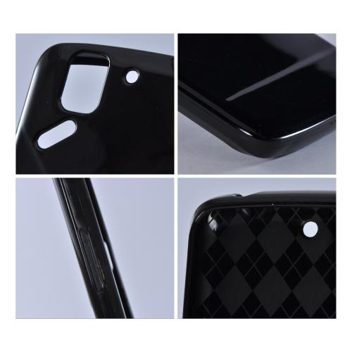 Black (Argyle Interior) Crystal Silicone Case for Pantech Flex