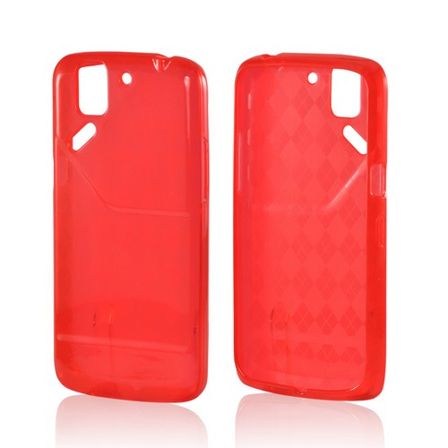 Argyle Red Crystal Silicone Case for Pantech Flex
