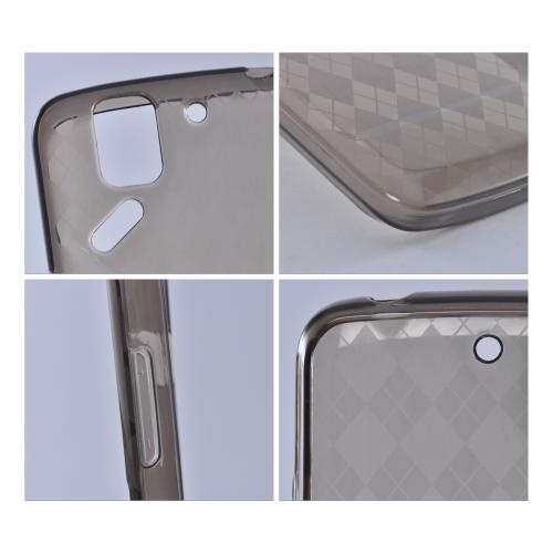 Smoke Argyle Crystal Silicone Case for Pantech Flex