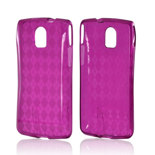 Purple Argyle Crystal Silicone Case for Pantech Discover