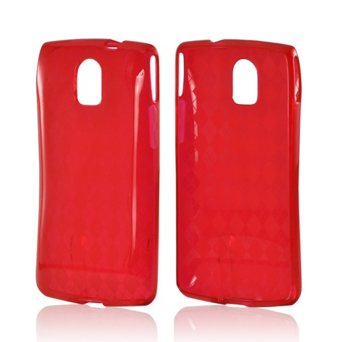 Red Argyle Crystal Silicone Case for Pantech Discover