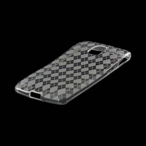 Argyle Clear Crystal Silicone Case for Pantech Discover