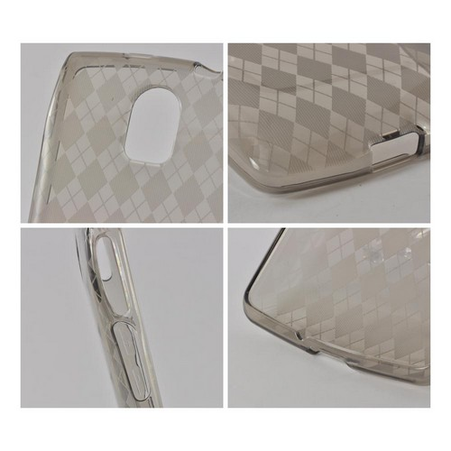 Argyle Smoke Crystal Silicone Case for Pantech Discover