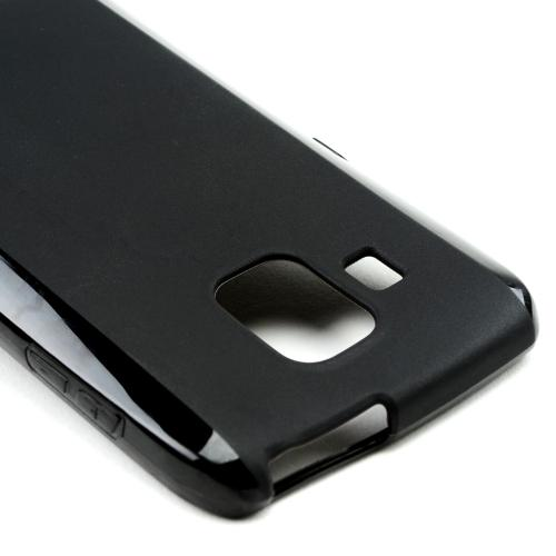 Black Crystal Silicone Case w/ Frosted Back for Pantech Perception