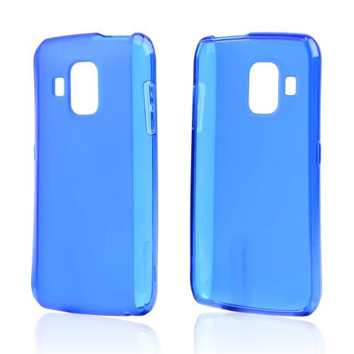 Blue Crystal Silicone Case w/ Frosted Back for Pantech Perception