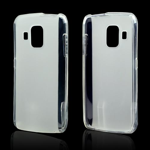 Clear Crystal Silicone Case w/ Frosted Back for Pantech Perception