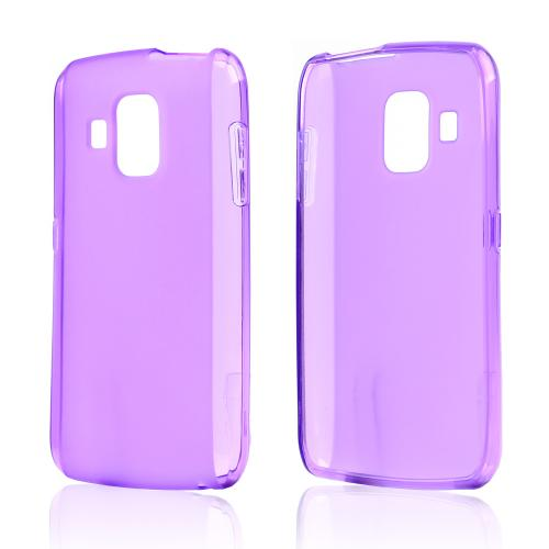Purple Crystal Silicone Case w/ Frosted Back for Pantech Perception
