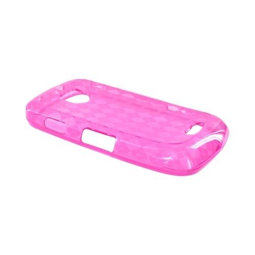 Samsung Droid Charge Crystal Silicone Case - Argyle Hot Pink