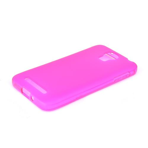 Hot Pink/ Frost Samsung ATIV SE Flexible Crystal Silicone TPU Case - Conforms To Your Phone Without Stretching Out!
