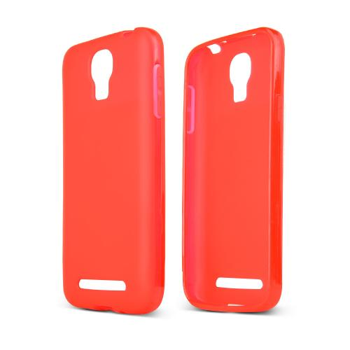 Red/ Frost Samsung ATIV SE Flexible Crystal Silicone TPU Case - Conforms To Your Phone Without Stretching Out!