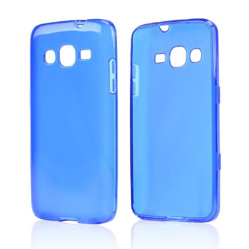 Blue/ Frost Crystal Silicone Skin case for Samsung ATIV S Neo
