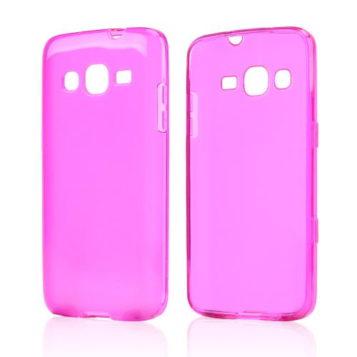 Hot Pink/ Frost Crystal Silicone Skin case for Samsung ATIV S Neo