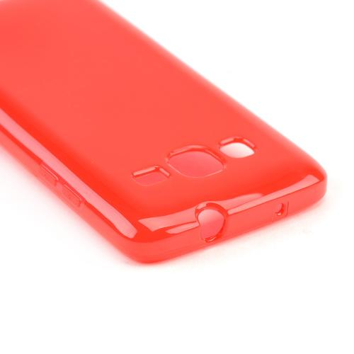 Red/ Frost Crystal Silicone Skin case for Samsung ATIV S Neo