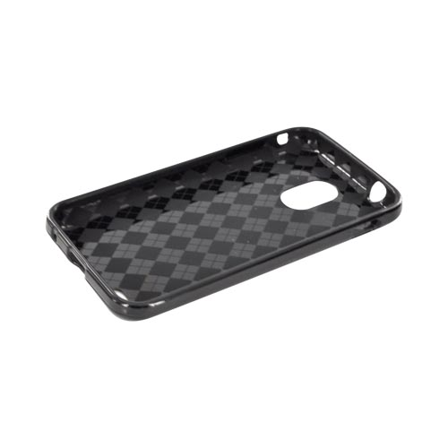 Samsung Epic 4G Touch Crystal Silicone Case - Black (Argyle Interior)