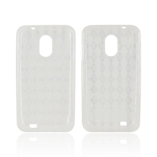 Samsung Epic 4G Touch Crystal Silicone Case - Argyle Clear