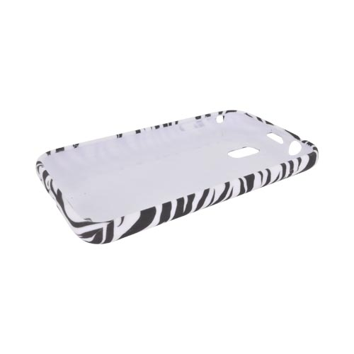 Samsung Epic 4G Touch Crystal Silicone Case - Black/ White Zebra (Argyle Interior)