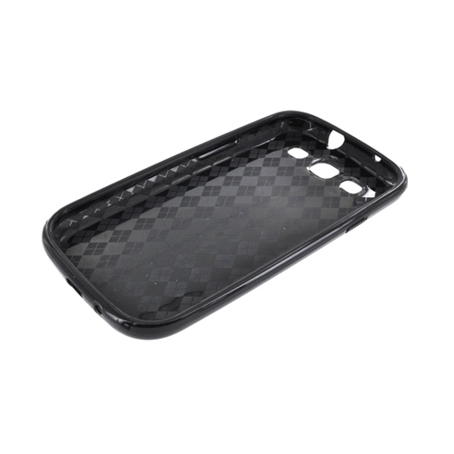 Samsung Galaxy S3 Crystal Silicone Case - Black