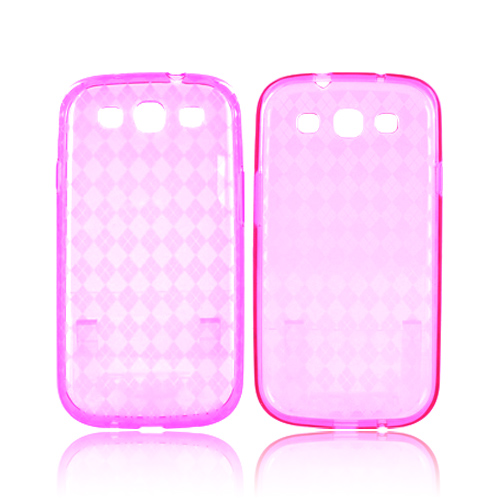 Samsung Galaxy S3 Crystal Silicone Case - Argyle Pink
